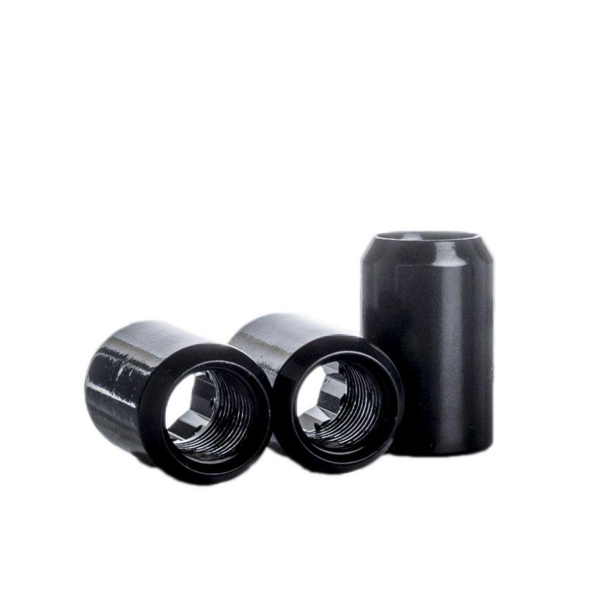 Tähtipääkolo aluvannemutterisarja 1,5mm nousu, 12mm, 20 kpl Musta