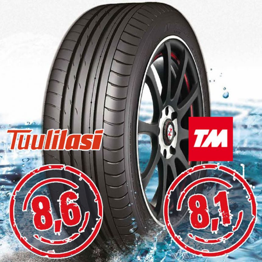 Sportnex AS-2+ TM- ja Tuulilasi-testimenestys 225/45-19 W
