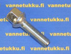 Pallokanta aluvannepulttisarja 1,5mm nousu, 14mm, pituus 28mm, 20 kpl