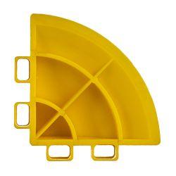 Lattialaatan kulmapala, racing yellow 4 kpl